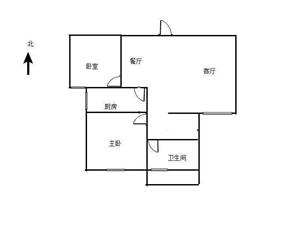 磬云大市场2室 2厅 1卫50万元