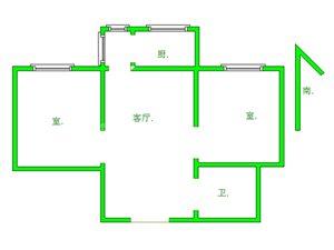 明珠都市花园2室 2厅 1卫67万元