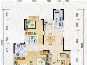 水岸名都 125平大三房 单价仅售75万包过户