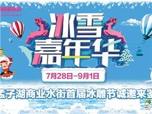 夏日冰雕節免費玩,鄒城孟子湖