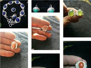 純銀戒指,手鏈,耳釘加工