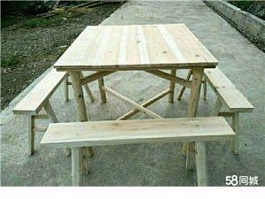 出售批發杉木條凳 辦酒席請客擺攤簡易八仙桌 圓桌