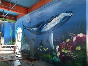 墙绘壁画——专业团队手绘墙画