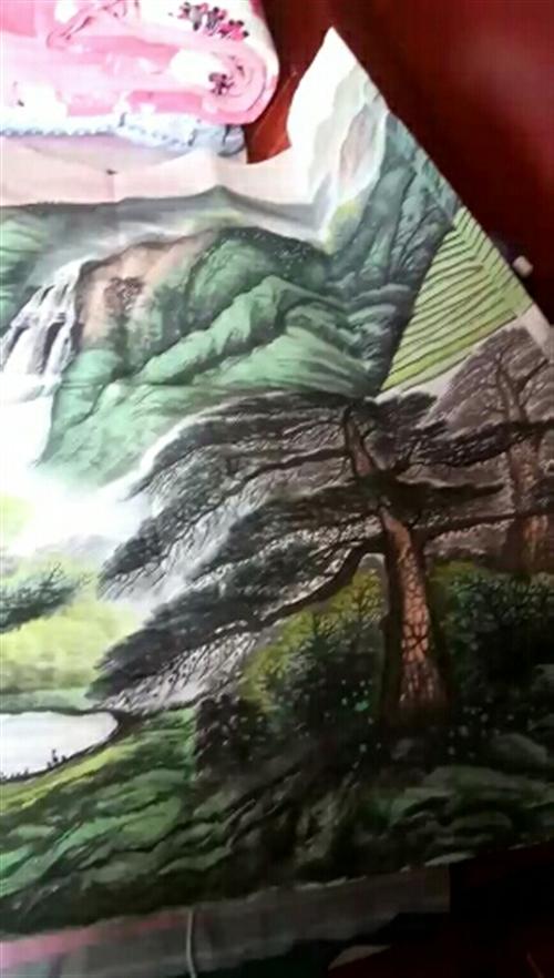 国家一级画师,周国耀老师手绘,旭日东升,2400X1000,百分百手绘正品,支持鉴定,喜欢的加V:13470286736