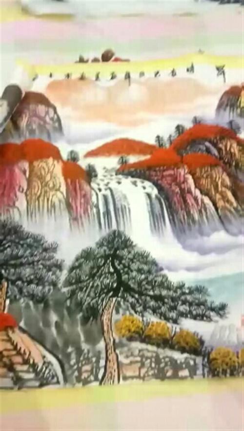 国家一级画师,孔庆义老师手绘,国画,鸿运当头,1800X700,百分百真迹,支持鉴定,喜欢的加V:13470286736