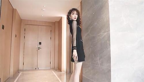 秋装2019年新款女减龄穿搭洋气矮个子显高时髦黑色气质网纱连衣裙