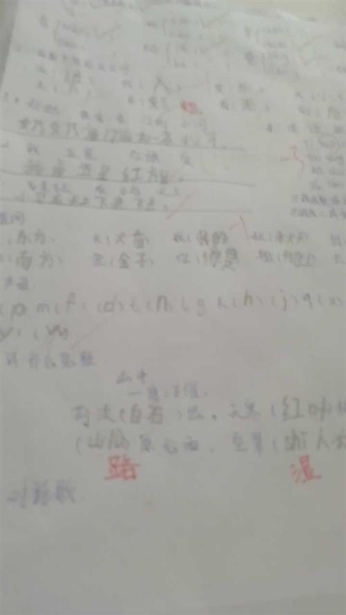 儿子要期中考试的,老娘在家给他手抄试卷,当妈容易嘛?
