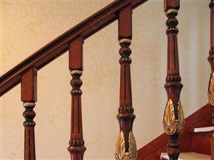 别墅楼梯  榉木实木楼梯 雕花楼梯 客户案例欣赏