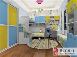 美高梅注册劳卡衣柜色彩斑斓的儿童房