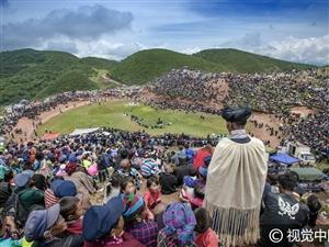 凉山州:群众欢度彝族火把节,斗牛斗羊精彩刺激