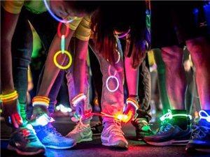 琼海溜HASH统一团队琼海博鳌国宾馆荧光夜跑活动