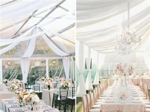 户外帐篷中的婚礼,浪漫而富有创意(