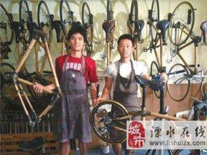 四川小伙用竹子造出自行车 一路骑行去拉萨