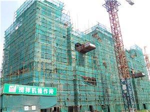 佰川・龙城1号新进展,多栋同步施工,小区大门已经呈现