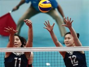 中国女子排球晋级决赛战胜荷兰队