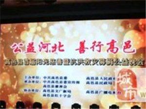 【公益河北 善行高邑】首届阳光慈善暨抗洪救灾募捐晚会!