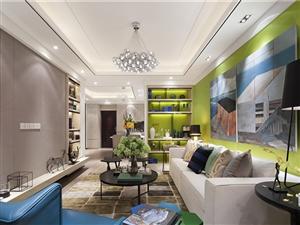 【9万装修费】碧水槟城三室两厅样板间装修图片分享