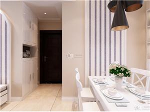 六合荣盛莉湖春晓75平两室两厅装修设计案例-六合一号家居网品质专业设计