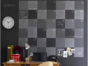 家居装饰中,黑板也能这样用。