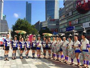 惊艳;贵州天柱的侗家妹子南京街头着盛装推介家乡