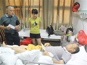 中原镇政府看望、慰问白血病患者