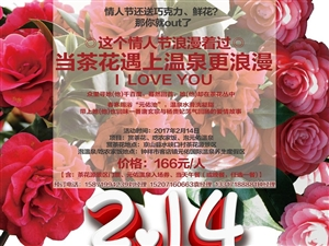 【元佑温泉】这个情人节浪漫着过,当茶花遇上温泉更浪漫!