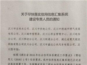 汉川多家单位联合建立失信惩戒机制和信用信息系统共享