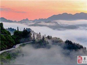 一张风光片:漫水塘晨雾