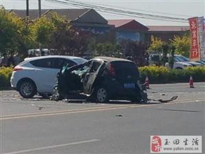 惨烈!澳门大小点网址玉滨公路周庄道口多车相撞事故,这场面不忍看…