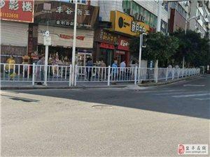 交警部门安装城区隔离护栏受到各界好评