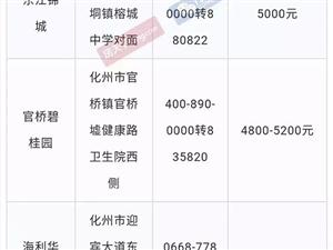 化州各大�潜P6月最新房�r曝光,最高7200一平方!!!