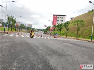 道路封闭!寻乌科技大道十字红绿灯处路面硬化,暂时无法通行,路过的朋友请绕行!