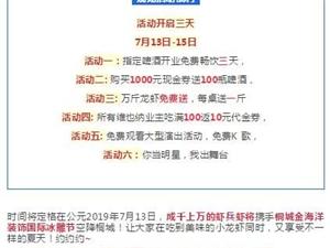 7月13日桐城市金海洋装饰首届冰雕美食文化节开启,万斤龙虾免费送!
