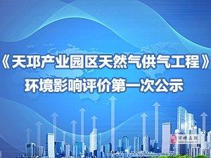 《天邛产业园区天然气供气工程》环境影响评价第一次公示