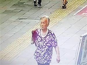已找到/急寻盐亭这位老奶奶,捡走了掉落在中央天街处的一挎包