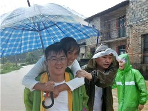 暴雨降临,乐安到处都是雨雨雨,各地积极进行预警救援