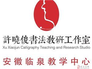 西泠印社出版社许晓俊书法教研工作室在我县成立教学中心