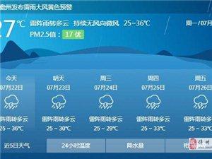 高温天气缓解!本周海南多阵性降水全岛最高气温不超35℃