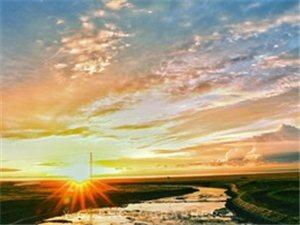 青海湖的日出�c日落光影�幻