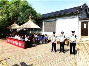 合阳县消防救援大队在处女泉开展急救、灭火演练