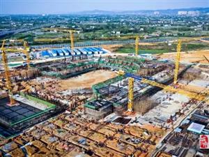 360°全景观看龙泉驿东安湖体育中心施工进度