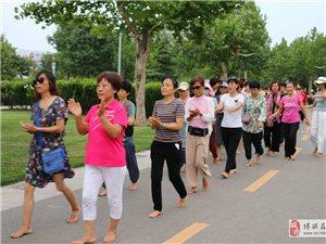 博兴县吉祥赤脚俱乐部全民健身活动在人民公园举行