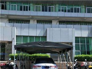 行政服务中心门口有人搭帐篷私设停车位