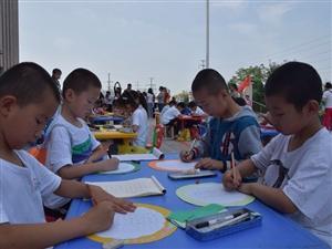 """合阳县青少年校外活动中心开展""""我和我的祖国""""大型书画展示"""