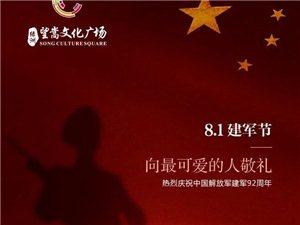 【绿洲・望嵩文化广场】8.1建军节,向最可爱的人敬礼