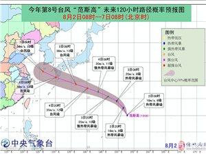 """今年第8号台风""""范斯高""""生成正往我国东部沿海方向移动"""