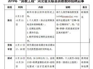 "2019年""�Y教工程""河北省�o�O�h�Y教教��招聘�⑹�"