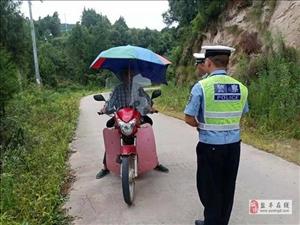 交警大队柏梓中队开展开展摩托车突出违法行为集中整治行动