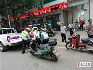 交警大队直属中队扎实开展城区交通环境治理