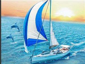 �碜�帆船游玩啦!